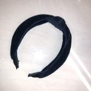 Suede knot headband